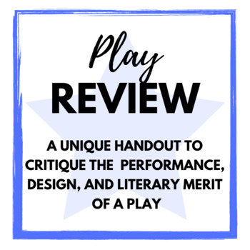 Play Review Handout