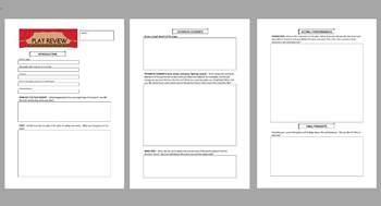 Play Review Template Junior Theatre Theater Review Template