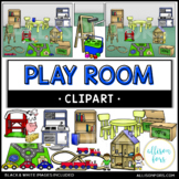 Play Room and Toys Clip Art
