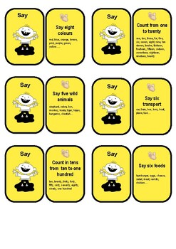 Play Say Act cards