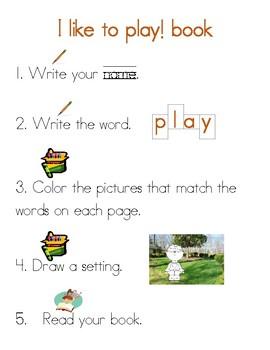 Play Sight Word Mini Book