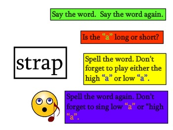 Play Sing Spell Vowels : Long and Short A