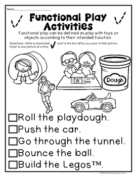 Play Skills Printables for Students with Autism & Similar Special Needs