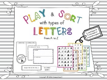 Play & Sort Types of letters