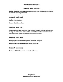 Play Structure Level 2 Lesson 9 Styles of Theatre