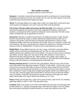"Play: The ""Crabby Crawdad"" - Environmental Drama"
