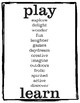 Play Typography Art - Printables for Home and School