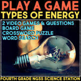 Play Video Games about Types of Energy & Power - Transfer of Energy & Forces