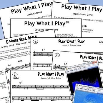 #BJL01 - Play What I Play Jazz Improv Lesson BUNDLE!