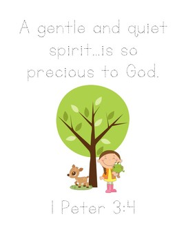 Play With Me Bible Verse Printable (I Peter 3:4)