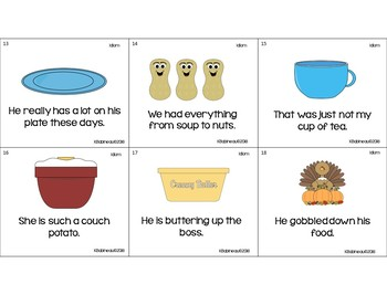 Play With Your Food!  Food-themed Figurative Language Activities