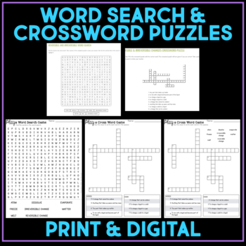 Play a Video Game - Reversible & Irreversible Changes - Science Stations