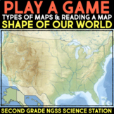 Play a Video Game about Maps - Shape of Our World Second Grade Science Stations
