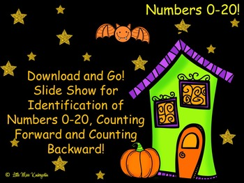 Play and Go Slide Show Halloween Numbers 0-20!
