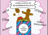 Play and Learn GINGERBREAD Bundle {PreK-K}  Math, Literacy