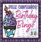 Play and Say : ¡Feliz Cumpleaños! Bingo Board with Spinner