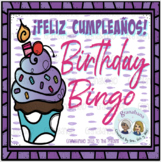 Play and Say : ¡Feliz Cumpleaños! Bingo Board with Spinner
