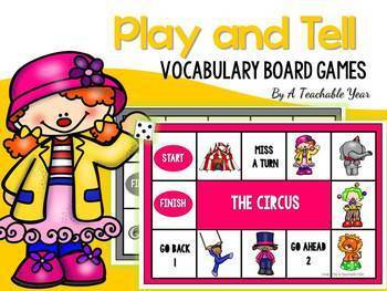 Play and Tell- Vocabulary Board Games