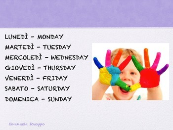 Play and memorize the days of the week