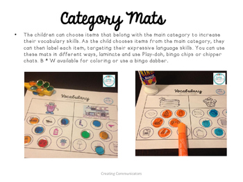 Play-doh Category Mats