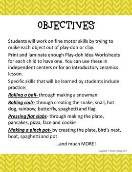 Play-doh Idea Sheets