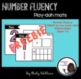 Number Fluency Play-doh Mats FREEBIE