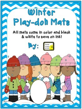 #MERRYMONDAY Play-doh Mats ~ Winter