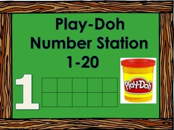 Play-doh Number Math Station with Ten Frames with Numbers 1-20