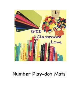 Play-doh Number Mats