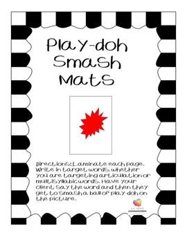 Play-doh Smash Mats.
