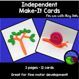 Playdough TASK make it CARDS - 12 cards FINE MOTOR