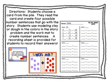 Dough Word Problem Activities {Common Core Aligned}