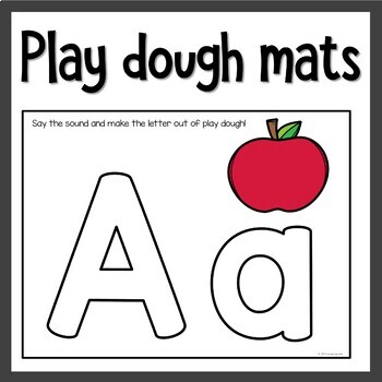 Alphabet Playdoh and Sorting Mats