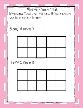 Play doh mats: More/fewer (differentiated)