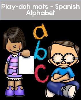 Play doh mats, Spanish Alphabet