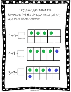Play doh mats: addition (differentiated)