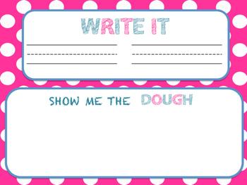 Play-doh word work mat