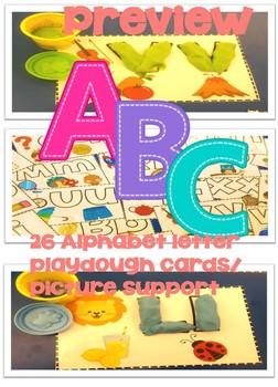Play-dough Alphabet Cards
