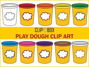 Play dough Clip art Freebie