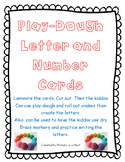 Play-dough Letter and Number Cards