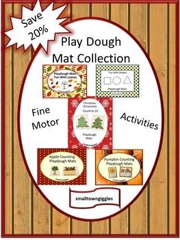 Play Dough Mat Bundle Fine Motor Skills P-k, K, Special Education  Autism