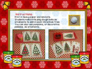 Play dough Number Recognition Workstations-Christmas Edition