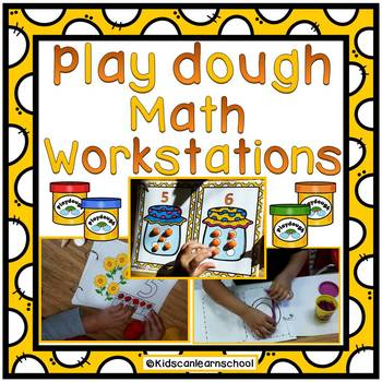 Play dough Math Workstations.