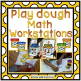 Play dough Math Workstations.