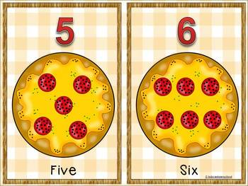 Play dough Math Workstations- Numbers 1-10-How many pepperonis in my pizza