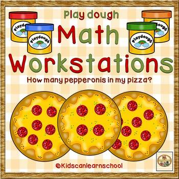 Play dough Math Workstations- Numbers 1-10-How many pepper