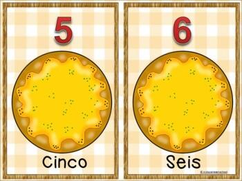 Play dough Math Workstations-Numeros 1-10-Cuantos peperonis en la pizza.