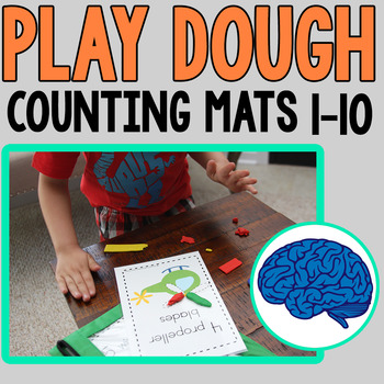 Play dough Mats | Encourages fine motor, counting, 1 to 1 correspondence