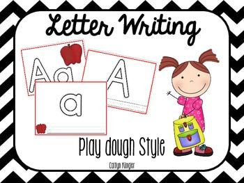 Play Dough Mats:  Letters