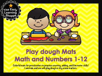 Play dough Mats Math and Numbers 1-12